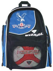 soccer blue backpack